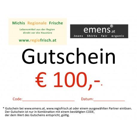 Gutschein €100,-