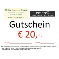 Gutschein €20,-