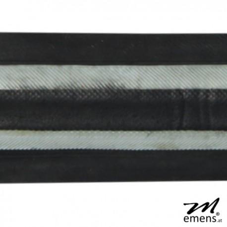 emens UpCycling Gürtel schwarz weiß