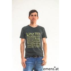 emens Shirt Herren Bezirke GrünGrau Slim