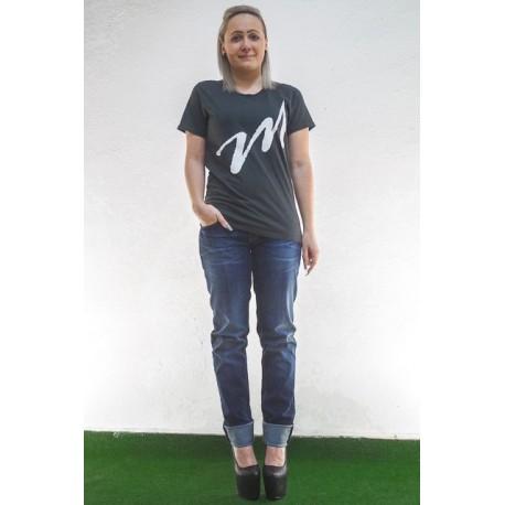 Shirt Damen m GrünGrau Slim