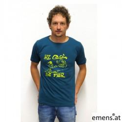 T- Shirt Leo be fair Petrol