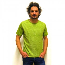 Shirt H Bezirke allover light green