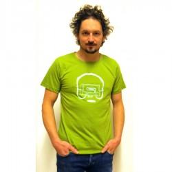 Shirt Uni Kassette Grün